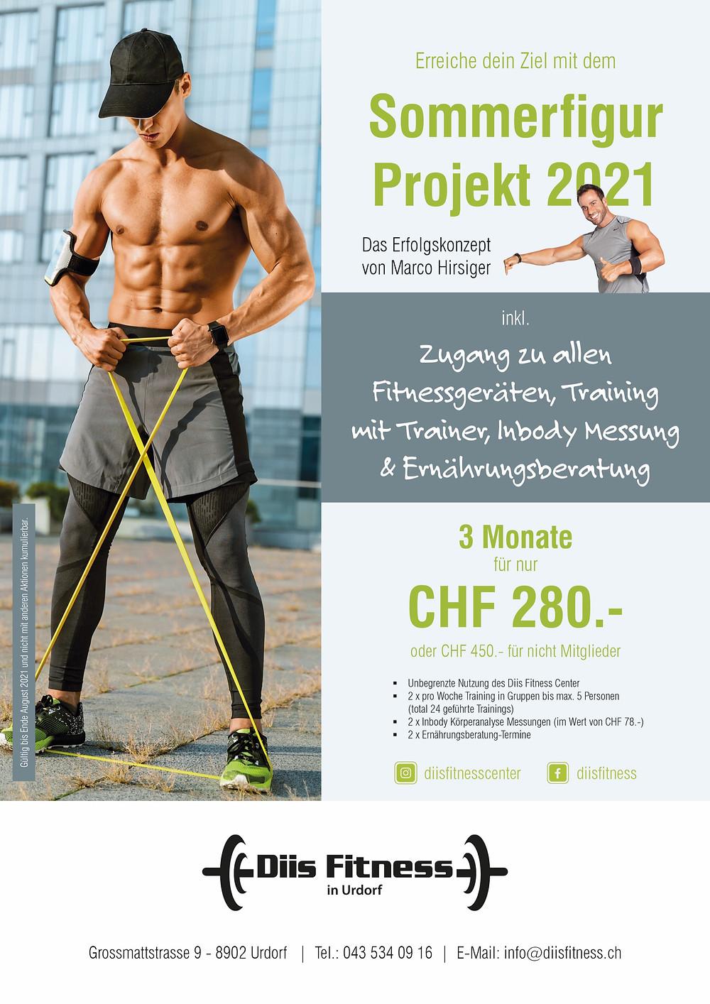 Diis Fitness Center Urdorf Sommerbody Projekt 2021