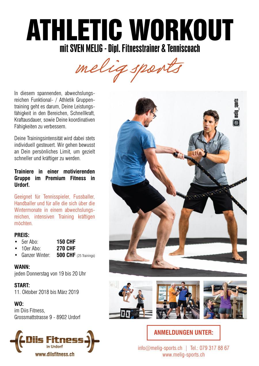 Flyer Athletic Workout mit Sven Melig