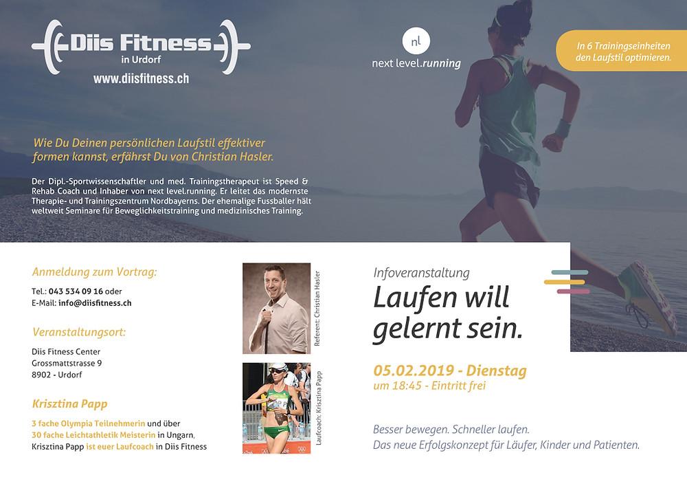 Infoveranstaltung Laufen will gelernt - next level.running