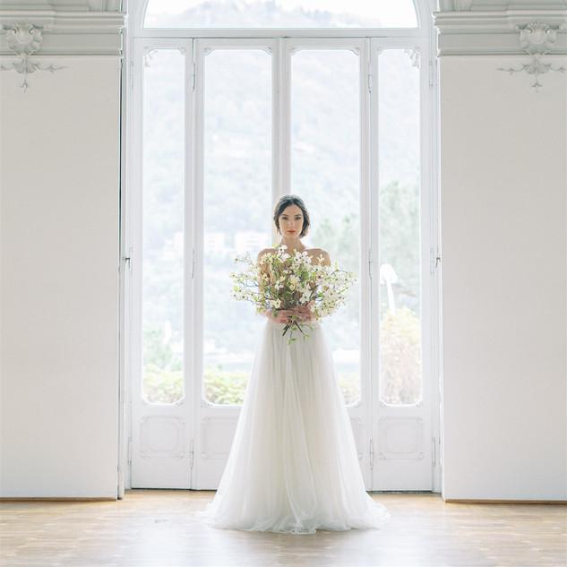 Silvia Valli - abito da sposa in tulle morbido