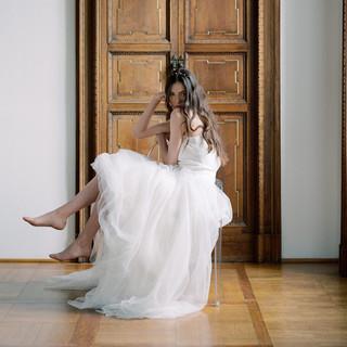 Silvia Valli - abito da sposa in tulle e pizzo