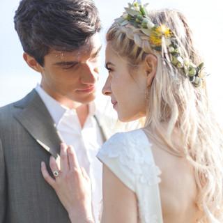 Silvia Valli - Abito da sposa in organza dettaglio scollatura