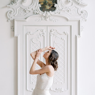 Silvia Valli - Abito da sposa tulle e pizzo Chantilly