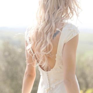Silvia Valli - Abito da sposa scollatura dietro bottoncini ricoperti