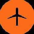 丸枠付きの飛行機のアイコン素材 4.png