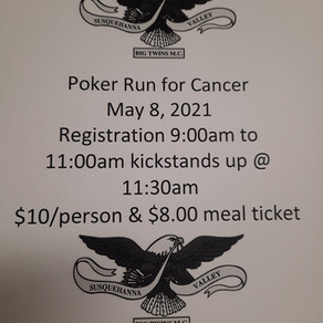 Poker Run for Cancer • May 8, 2021