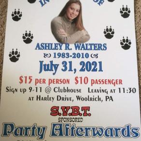 Ashley Walters Memorial Benefit • July 31, 2021