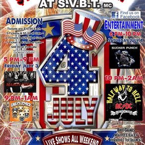 4th of July Party • July 3-4, 2020