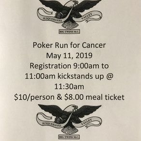 Poker Run for Cancer • May 11, 2019