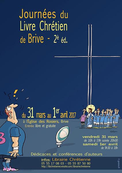 Affiche Yves Guézou Journées du livre chrétien Briv 2017