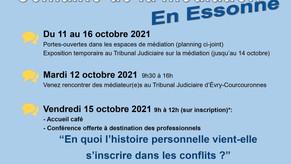 Semaine de la médiation en Essonne du 11 au 16 octobre 2021
