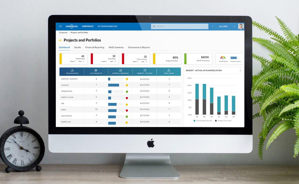 Project Portfolio Dashboard voor CEO en Management