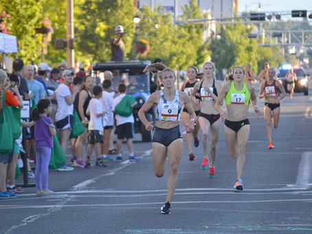 Six runners break four minutes in record-setting debut of Yakima Downtown Mile