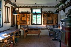 Tischlerei, einer der drei Innenräume