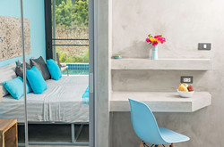 Turquoise bedroom - King size bed