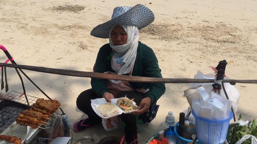 Street food on the beach