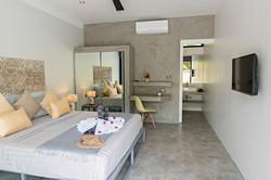 yellow grey bedroom n°3  Baan Sawadee villa