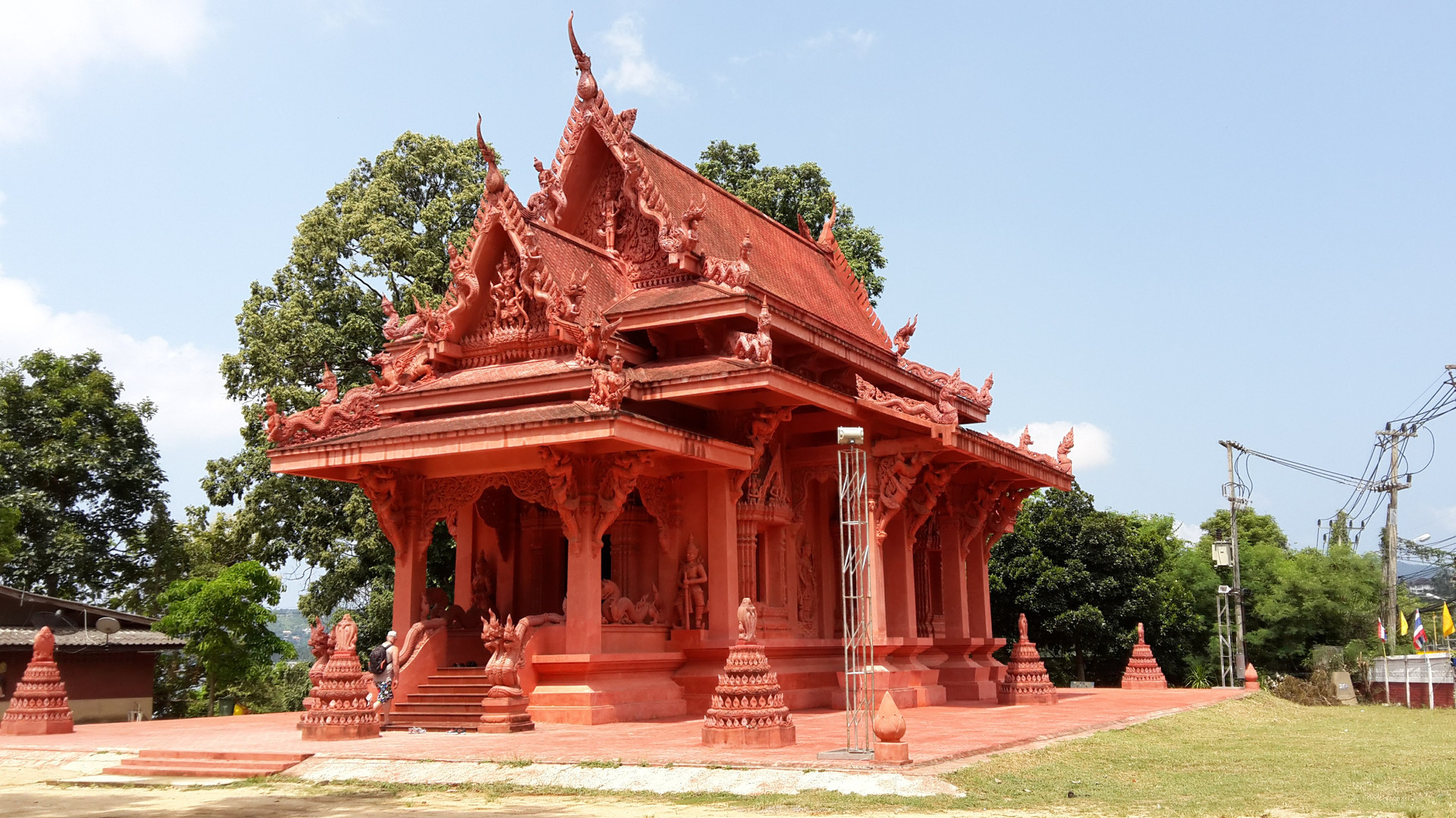 Temple rouge Wat Ratchathammaram