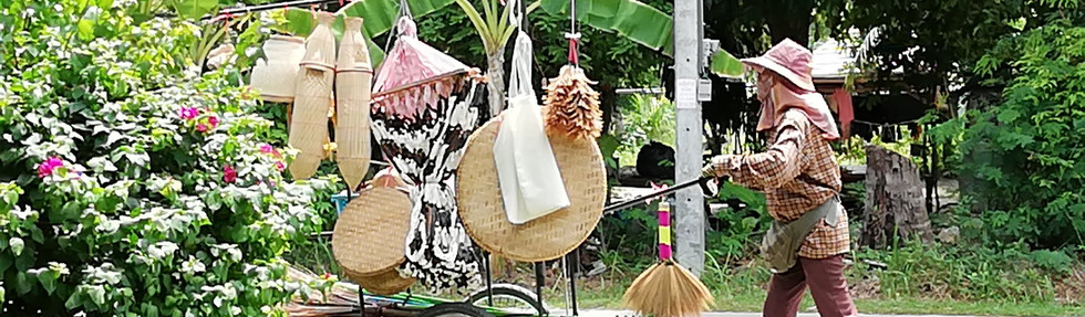 Local basket and broom