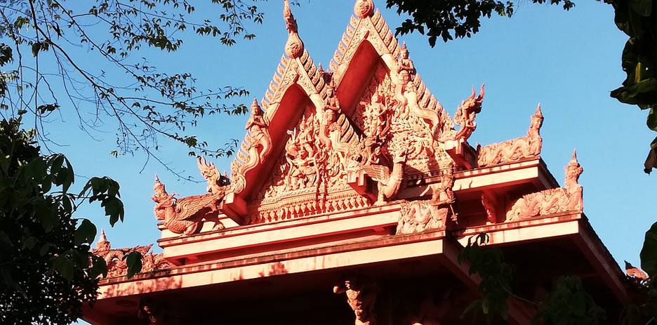 The red Temple - roof