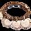 Thumbnail: Pelinabijoux Three Charm Bracelet 18K gold plated