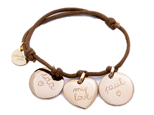 Pelinabijoux Three Charm Bracelet 18K gold plated