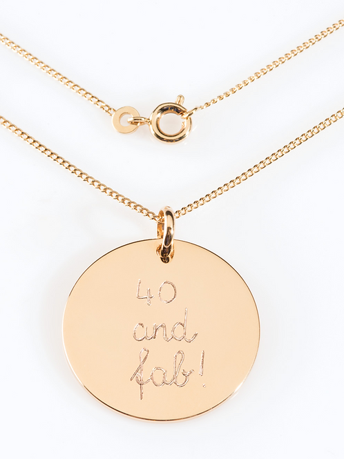 Big Charm Necklace 18k Gold Plated