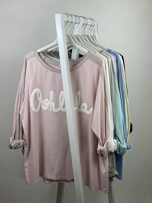 Sweater Oohlala mit Seitenstreifen