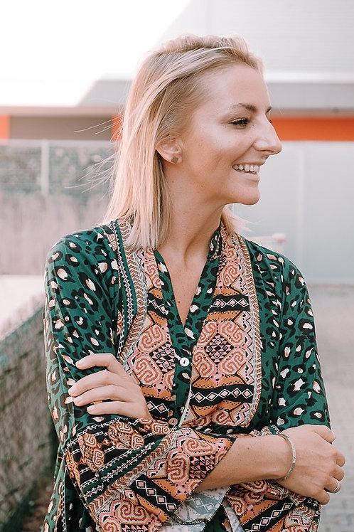 Kleid Oversize Leopard