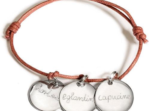 Pelinabijoux Paris Three Charm Bracelet Silver