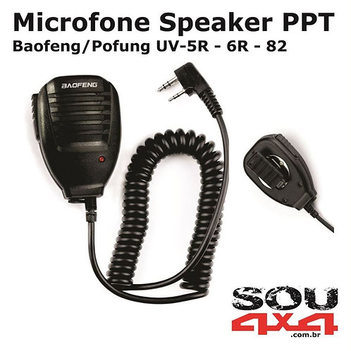 Microfone Speaker PPT p/Baofeng (todos)