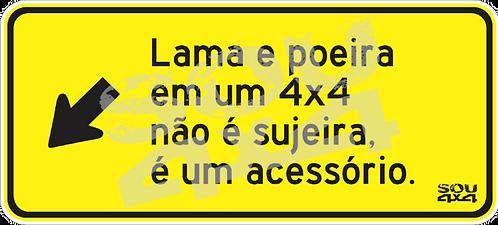 Adesivo Sinaliza 002 - SOU 4X4 - 15x7cm