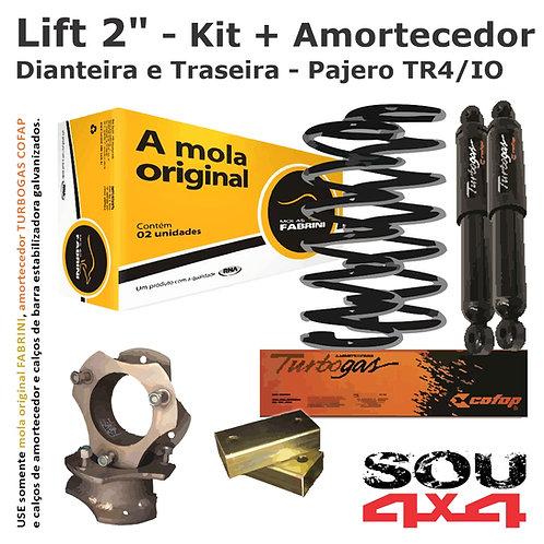 "Lift 2"" - Kit Calço+Mola+CalçoBE+Amort - Pajero TR4/IO"