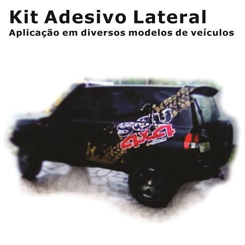 Adesivo Lateral - SOU 4X4 - 240x80cm (par)