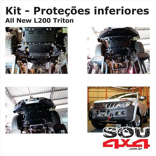 Kit - Proteções inferiores em aço - All New L200 TRITON