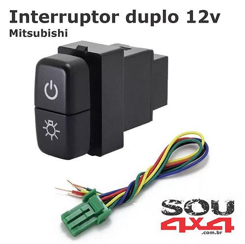 Interruptor duplo 12v - MIT Farol - z