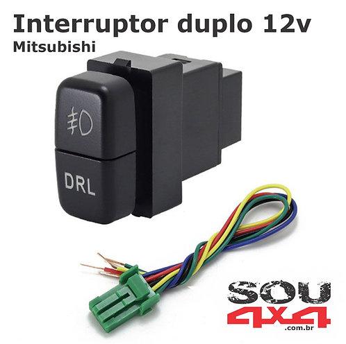 Interruptor duplo 12v - MIT Farol - y