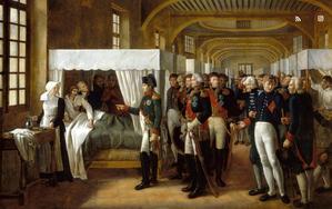 NAPOLÉON VISITE LA SALLE NAPOLÉON À L'INFIRMERIE DE L'HÔTEL DES INVALIDESVERON-BELLECOURT Alexandre (1773 - )