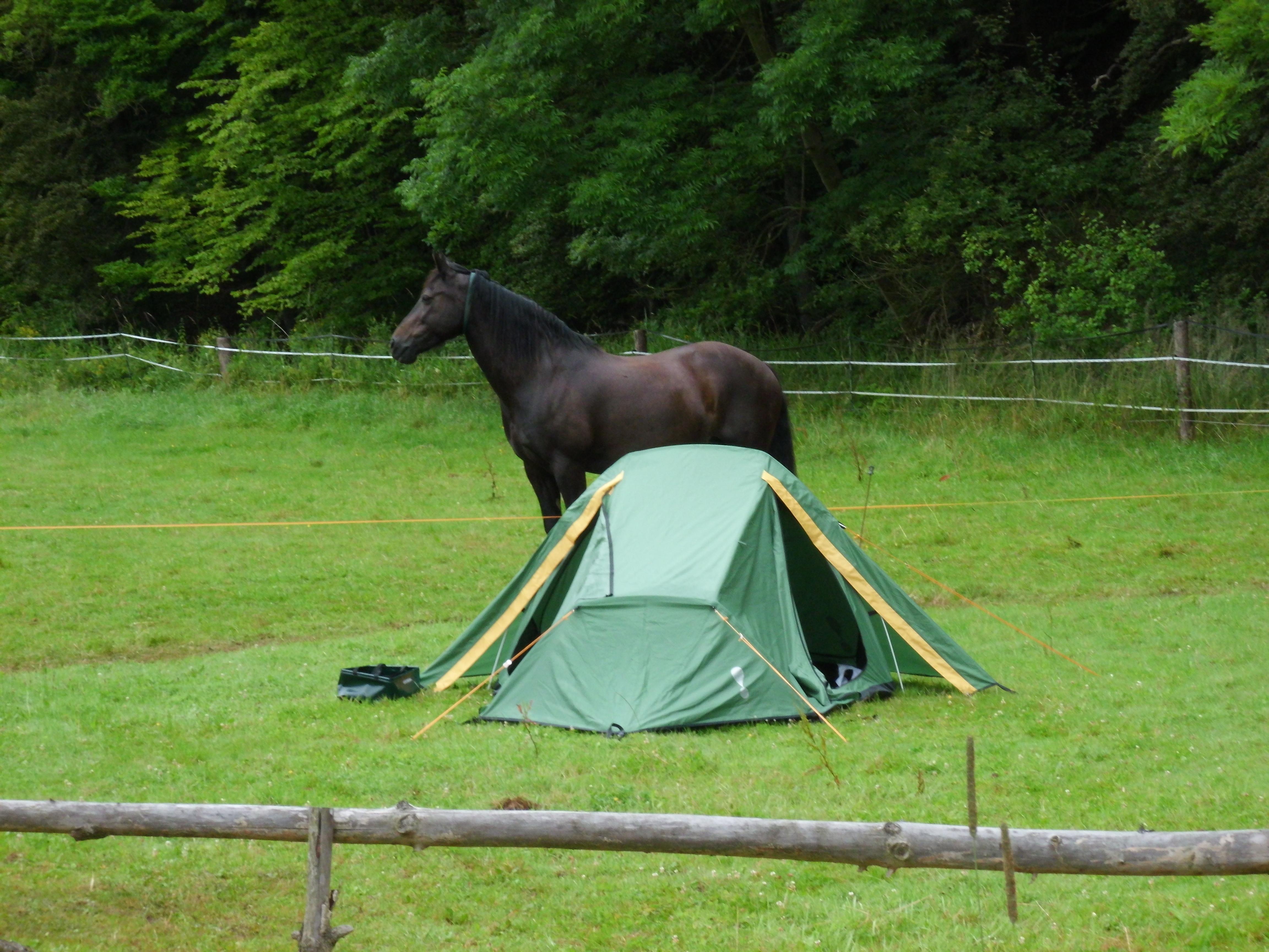 Übernachtung im Zelt