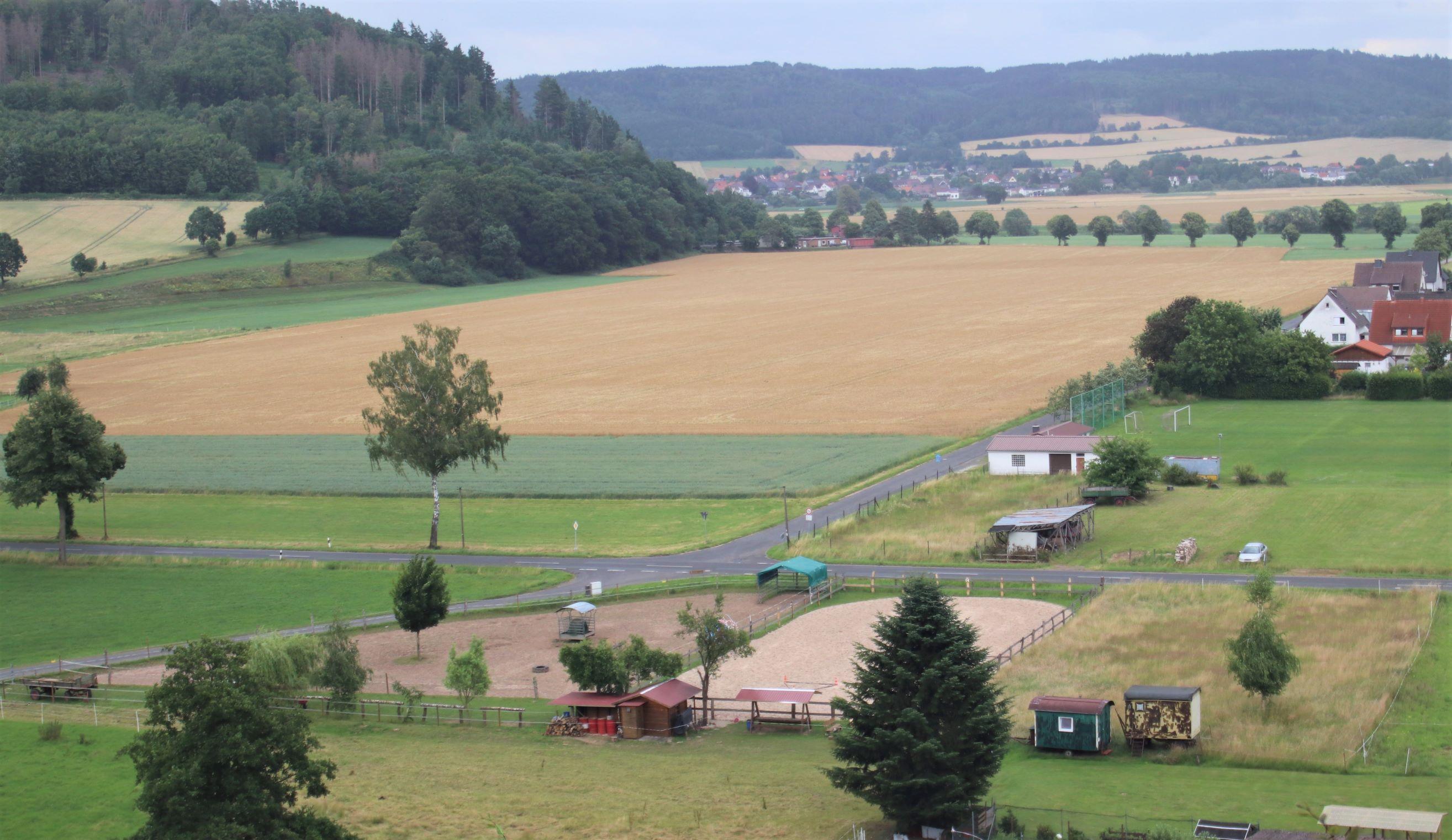 Reitplatz der Absarokee Horse Farm
