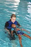 Rikki with floating child