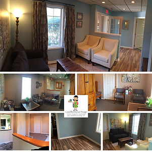 Affordable Interior Design - Commercial Design Dental Office Reception Area