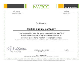 Phillips Supply Company 2019 WOB CERT.jp