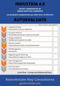 Jesus Maza, Reinventate HOY, autoevaluacion directivos, Competencias industria 4.0