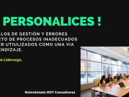 NO  Personalices !