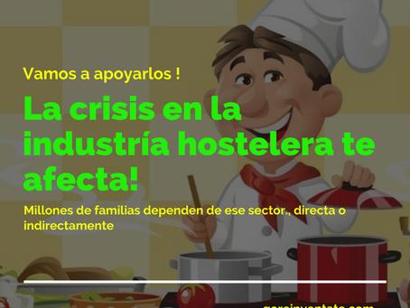 Crisis en el sector de hostelería y restauración.
