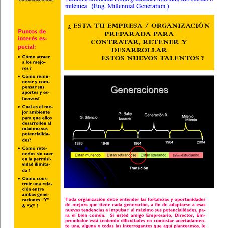 Cómo gestionar exitosamente la generación Y, también conocida como generación milenial, del milenio