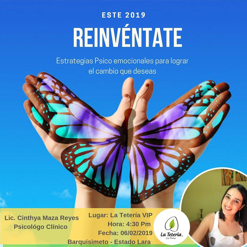 Cinthya Maza, Estrategias Psico emocionales, Reinventate HOY consultores, cambio, ayuda