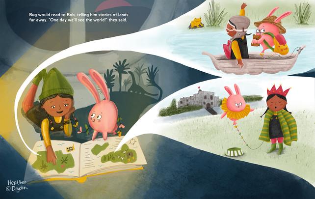 Bug and Bob reading