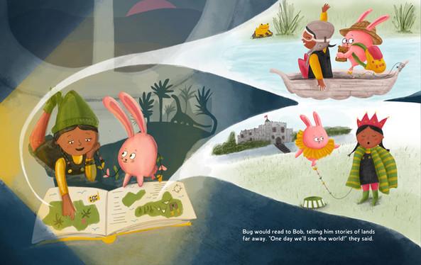 Bob and Bug reading